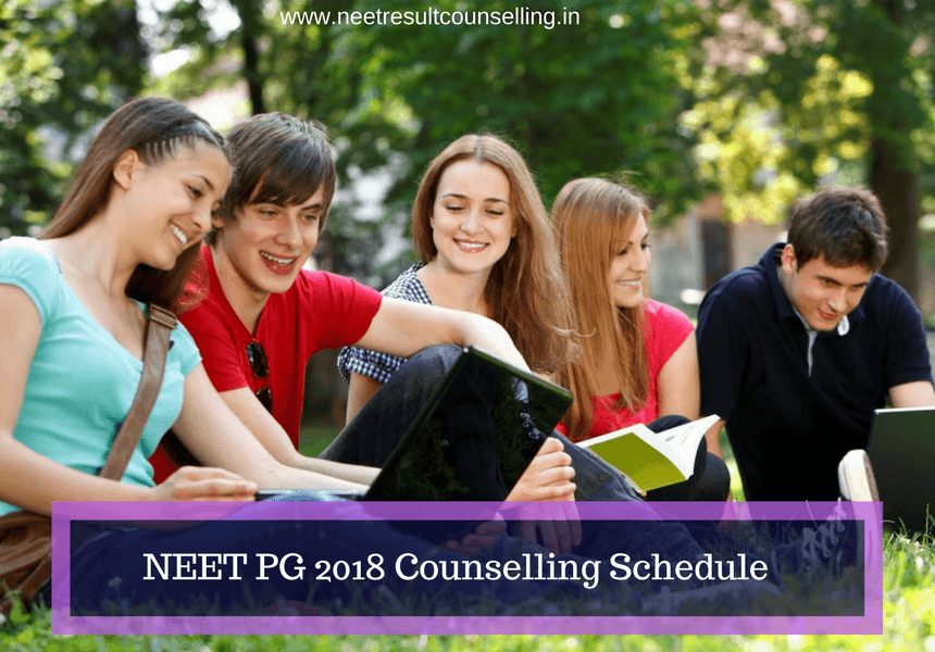 NEET PG 2018 Counselling Schedule