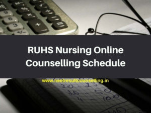RUHS Nursing Online Counselling Schedule