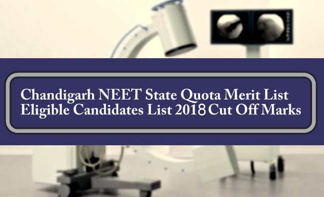 Chandigarh NEET State Quota Merit List