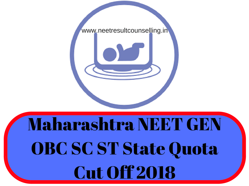 Maharashtra NEET GEN OBC SC ST State Quota Cut Off 2018
