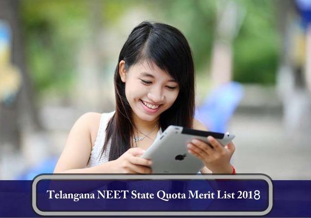 Telangana NEET State Quota Merit List 2018
