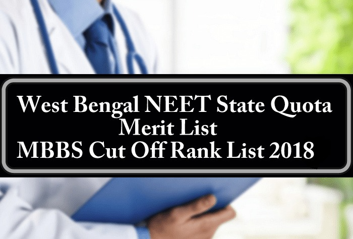 West Bengal NEET State Quota Merit List