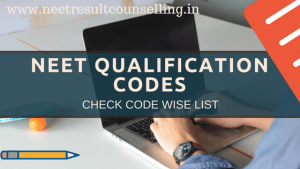 NEET Qualification Codes