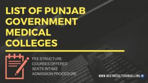 Punjab Govt Medical Colleges