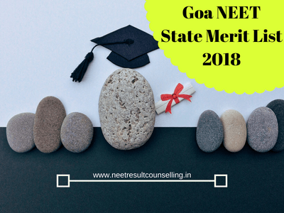 Goa NEET Merit List 2018