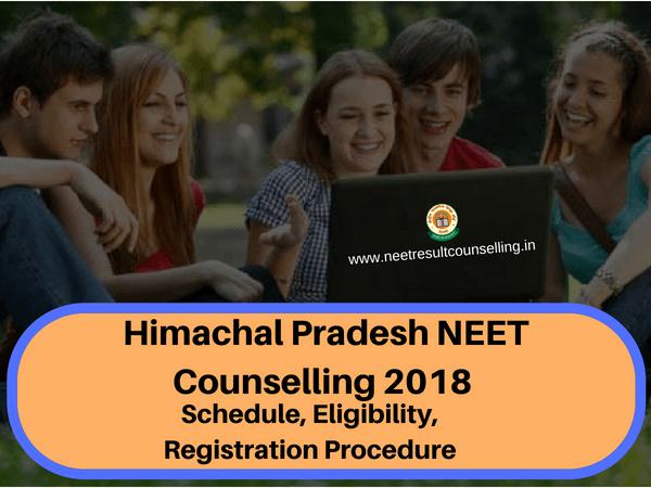 Himachal Pradesh NEET Counselling 2018