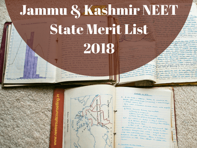 Jammu & Kashmir NEET State Merit List 2018