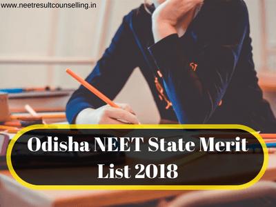 Odisha NEET State Merit List 2018