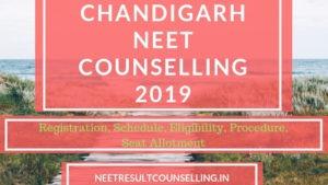 CHANDIGARH NEET 2019 counselling 85% state quota