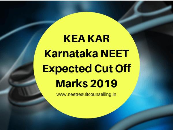 Karnataka NEET Expected Cut Off Marks 2019