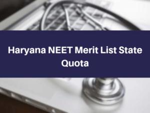Haryana-NEET-Merit-List-State-Quota