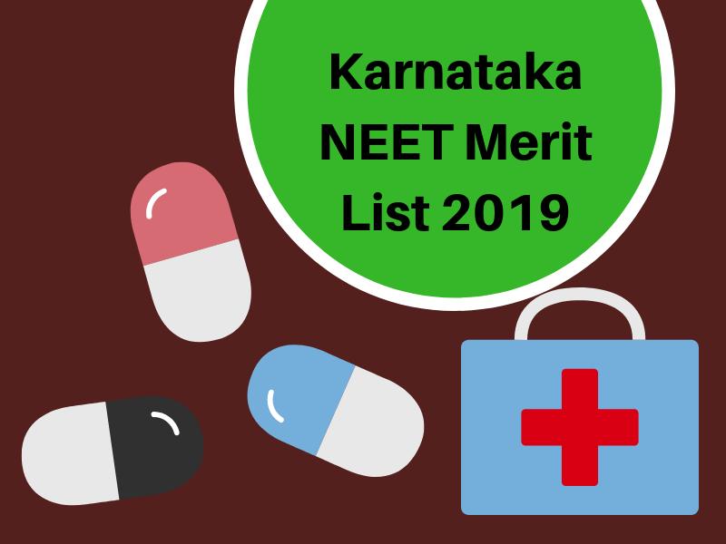 Karnataka NEET Merit List 2019