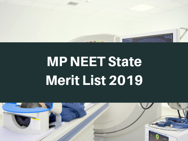 MP NEET State Merit List 2019