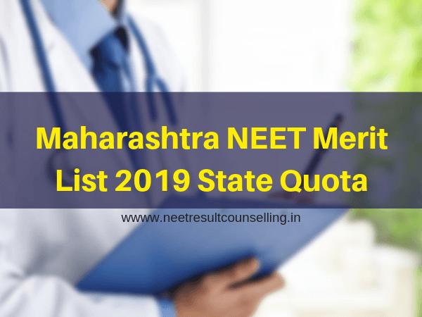 Maharashtra NEET Merit List 2019