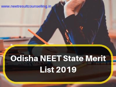 Odisha NEET State Merit List 2019
