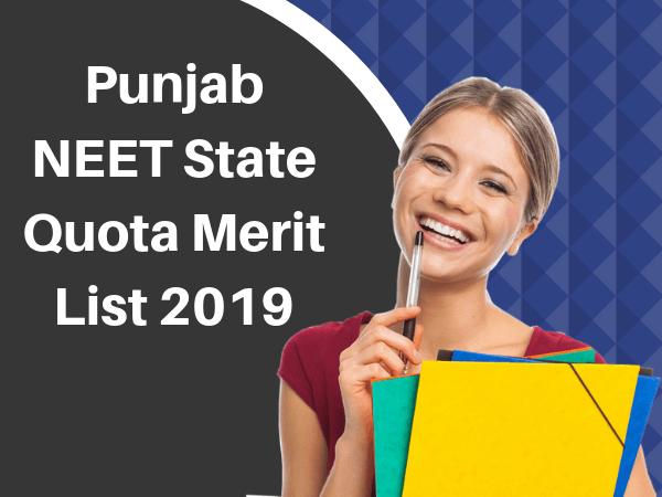Punjab NEET State Quota Merit List 2019