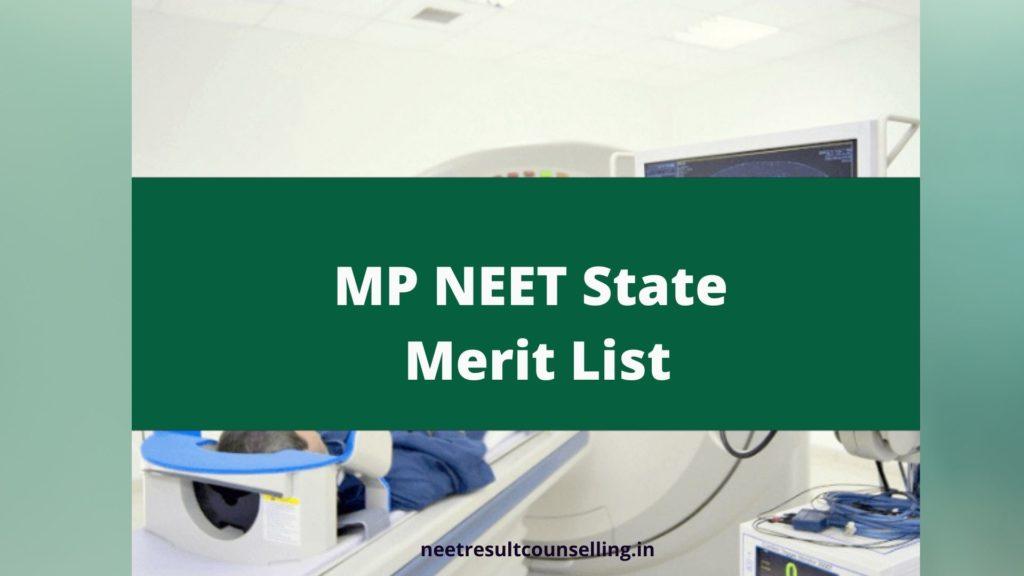 MP NEET State  Merit List