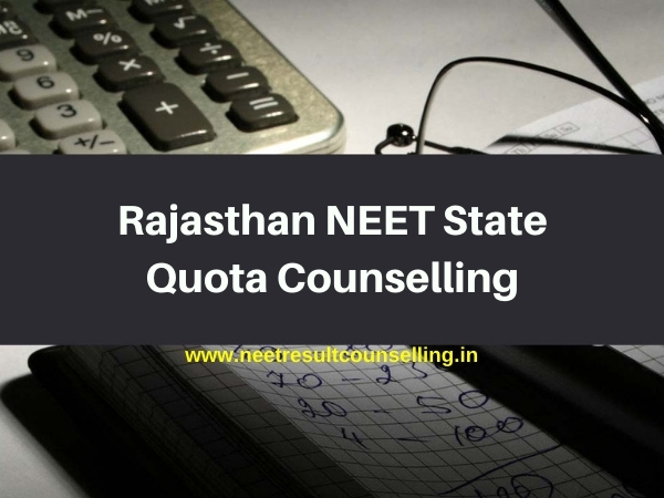 Rajasthan NEET State Quota Counselling