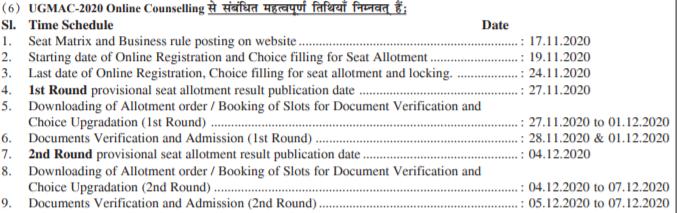 Bihar-NEET-2020-Counselling-Schedule