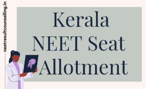 Kerala-NEET-Seat-Allotment